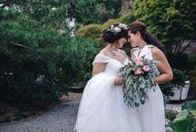 STYLED SHOOT: Blushing Botanical Brides / Intimate elopement in the Japanese Garden