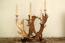 Antler items / Gewei artikelen / We stock a large range of antler articles to decorate your home, holiday house or office..