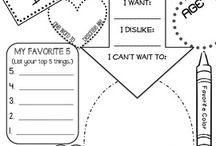 Teachers paper work for children to do