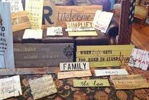 Pallet and reclaimed wood / by Patti Kappauf