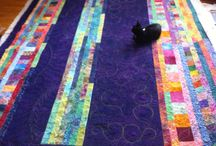 Free motion quilting on A Scrappy Sofa Quilt by Sue Patten / A quick easy quilt for the family to snuggle under on our Canadian COOL winter nights...