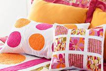Pillows and foot stools