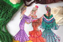 flamenca acuarelas