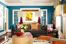 Warm, colorful, unisex living room / Home Decor