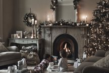front room at christmas