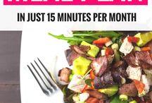 Meal Planning / How to meal plan, meal planning tips, meal planning hacks, meal plan examples