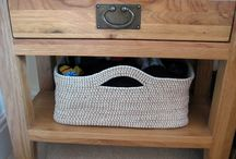 Crocheted Baskets / Looking to crochet baskets for storage/organization? Here you will find crochet patterns for baskets of various sizes to hold the items around the home (like yarn!)