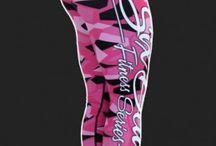 Camo Pink - legginsy Six Deuce