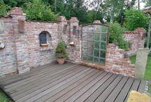 Alte Mauerziegel neu verbaut