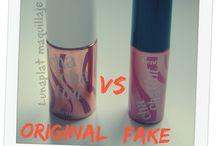 Original vs fake make up / productos originales vs fake o clones maquillaje