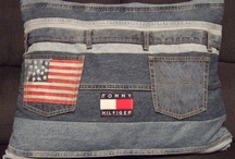 Recycled blue jeans