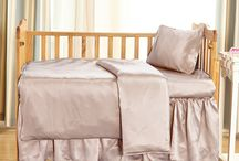 Silk Crib Bedding Set / Silk crib bedding set includes fitted crib sheet, cirb skirt, baby pillow and kid pillowcases, which are all 100% mulberry silk. Vansilk provides 19 momme, 22 momme and 25 momme crib bedding set with a variety of colors and sizes. Soft, natural hypoallergenic.