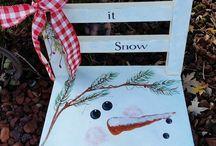 Sedia decorate natalizia