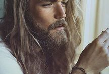 long hair men/bearded