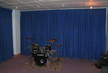 Akustik Perdesi (accoustic curtains)