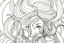 Antistress coloring - womans