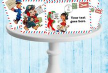 Christmas Tags / Christmas Tags, Christmas Labels, Christmas Cards, Christmas Postcards  / by Donna- Glamorous Sweet Events