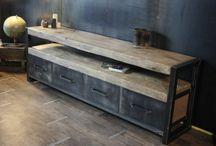meubles bois brut