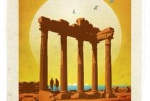 Türkiye Posterleri / Türkiye... En büyük medeniyetlere ev sahipliği yapmış, modern yaşamın ve en eski inanç sistemlerinin doğuşuna tanıklık etmiş, tarihçileri büyüleyen, arkeologların aklını başından alan, dünya haritasının kalbindeki eşsiz yerinde usulca uzanan güçlü ülkemiz... Evimiz!