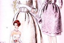 Wedding Gowns - Ideas, Sewing patterns and Illustrations / Old, Vintage, Retro, Modern