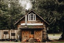 Cottage and cabin.