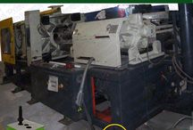"""Injection Molding and Vibration Damping / Dynemech's Injection Molding Machine Mounts provide optimum leveling and alignment of the machines within minutes, without anchoring either the machine or machine mounts to the floor. Dynemech vibration insulation sheets dampen both vertical and horizontal impacts found in reciprocating machines. In addition, each vibration isolation pad is engineered to possess an exceptionally high coefficient of friction that also prevents machine """"walking"""""""