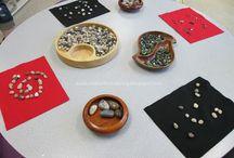 natuurlijke materialen spel en creativiteit/ natural playing ideas