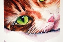 All the Pretty Painted Cats / Cat paintings by Christy Obalek / by Christy Obalek, Visual Artist
