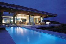 piscinas azuis