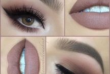 Lip and eye Makeup- nude