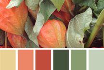 grøn og orange