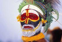 Tribal tattoos, body painting, body decoration, body modification