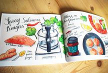 Illustrated recipes / Food illustration and illustrated recipes