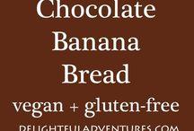 Bezlepkové banánové chleba