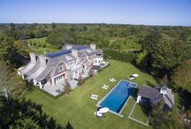 379 Ocean Road, Bridgehampton NY / This new construction estate on nearly 3 acres is truly a prized property on the coveted Ocean Road in Bridgehampton South. As you enter the gated treelined drive you will pass the all weather 60' X 120' tennis court as the property opens up to the 9,100 SF+/- shingled traditional home...