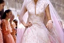 Wedding dresses in colour