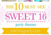 Sweet 16 Party Ideas / Girl's party ideas -- cakes, decorations, party foods and favors. See more party ideas at CatchMyParty.com.