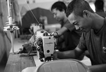 Our House of SAKK factory and people / Our products are handmade by our people in Indonesia