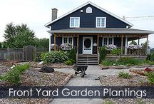 Front Yard Garden Without Grass Landscaping Idea - Steps / Way to convert lawn into a front yard garden. Useful to create an edible garden. Step by step detailed instructions with illustrations. For a no-grass front yard, it's the solution!