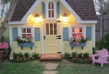Playhouse  / Play house ideas for the girls ... / by Krista Kelly