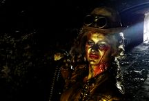 Zombie Steampunk Lady - Halloween Living Statue