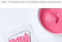 Flori din ciocolată