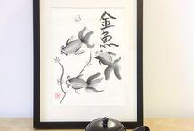 Japanese Nature Painting Sumi-e