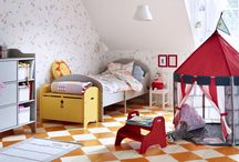 Children's bedroom ideas / Inspiration for bright, fun and practical spaces for a child to sleep and play.