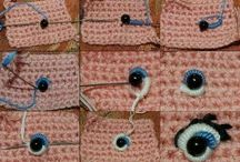 Embroided eyes for dolls