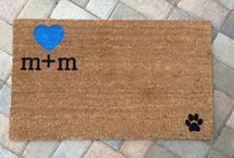 Wedding Gift Ideas / Perfect gifts for newlyweds! Our custom + clever doormats make the best wedding gifts!