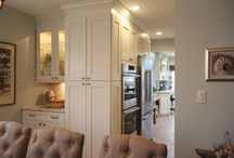 """Babylon Revival / This kitchen makeover accomplished several goals allowing the kitchen to give a much more connected feel to the first floor.  The now larger design overflows into an existing addition and provides a more appropriate """"great room"""" experience.  Improved functionality and a cohesive look throughout, the end result is a true revival."""