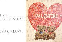 masking tape art / DIY・カスタマイズに欠かせない「マスキングテープ」を使ったアート写真を公開します。