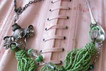 Showgirls Vintage Necklace Collection / Refashioned vintage necklaces using costume jewellery and quirky components