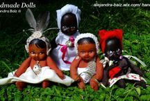 My handmade Dolls / I love to dream, I love to create! These are some of my creations. You can find them at http://alejandra-baiz.wix.com/handcrafts